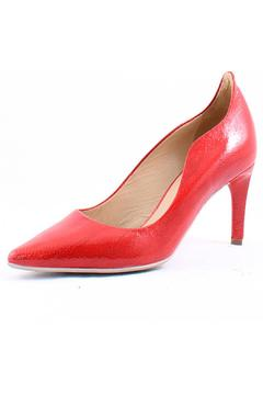 France Mode Red Leather Pump - Product List Image