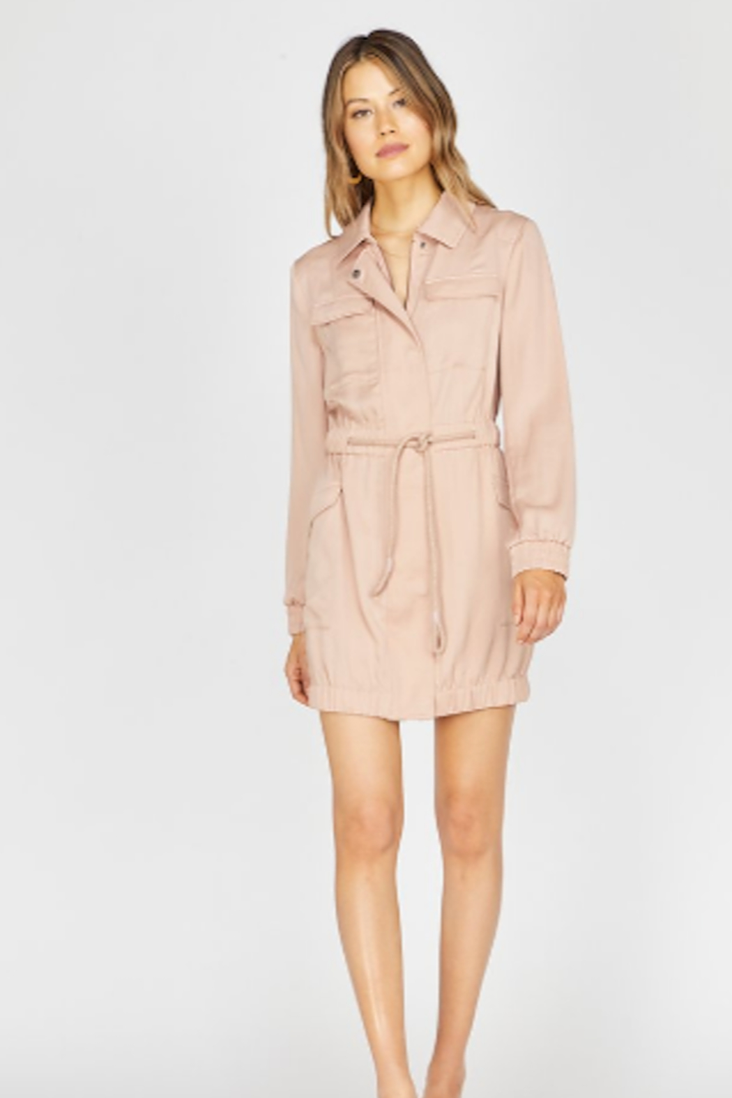 Greylin Frances Utility Jacket Dress - Front Cropped Image
