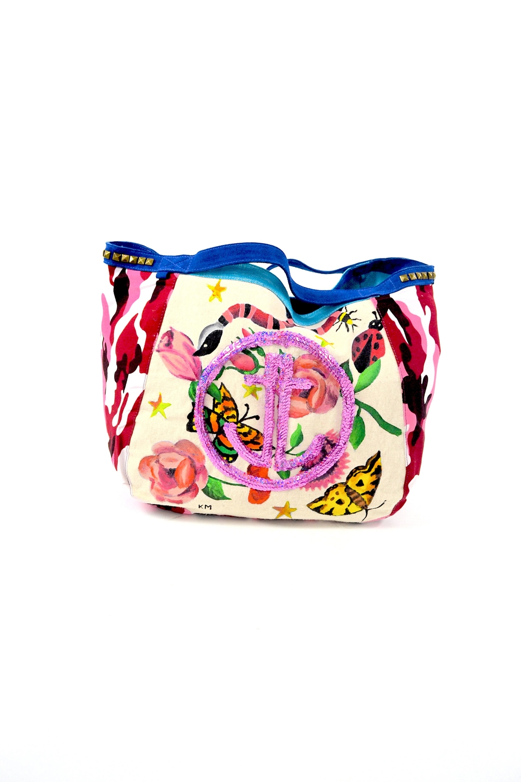 FRANCIS MARTINEZ Floral Camo Bag - Front Cropped Image