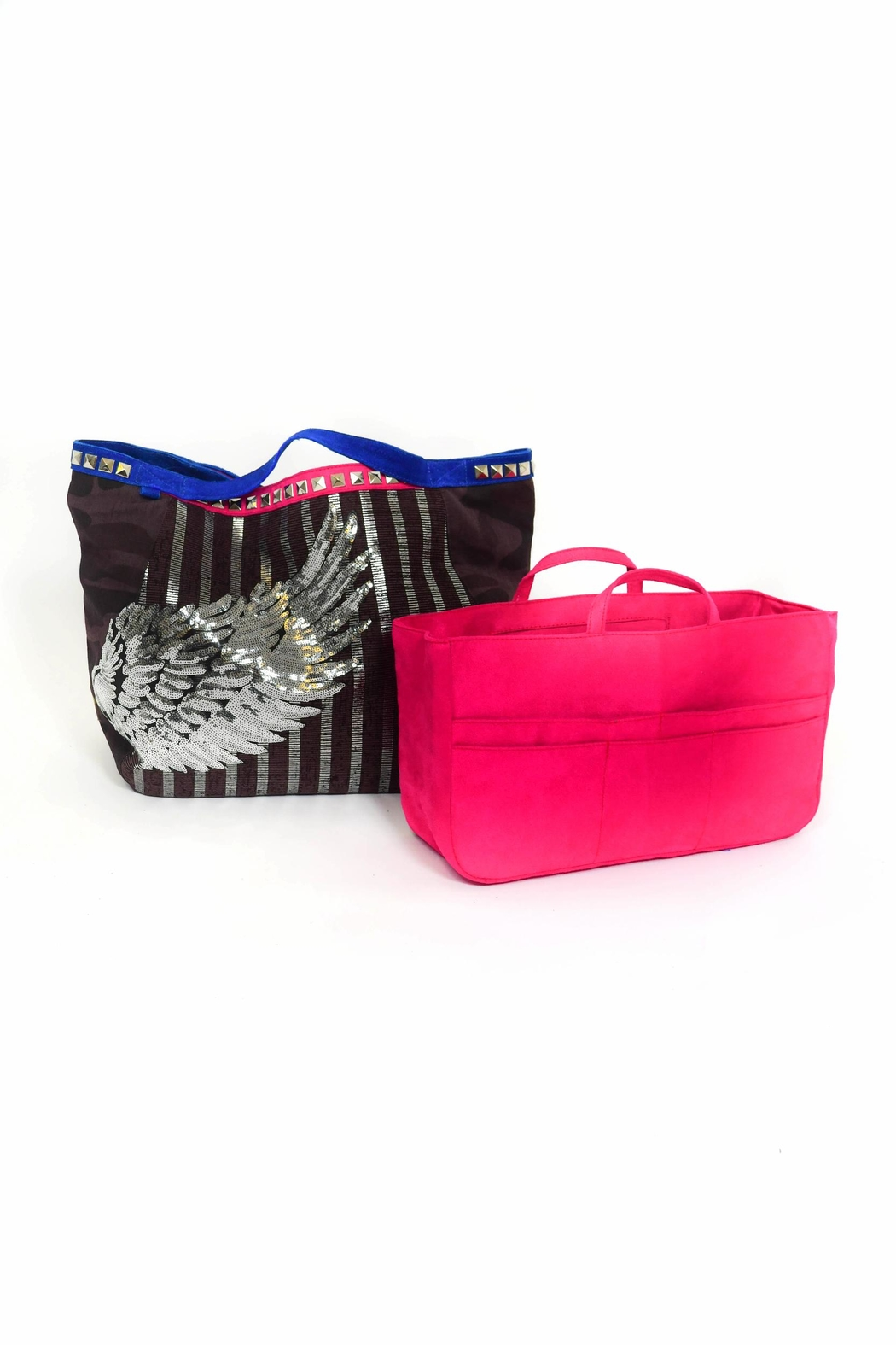 FRANCIS MARTINEZ Sequins Wings Bag - Front Full Image