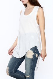 Frank & Eileen White Muscle Tunic Top - Product Mini Image