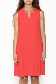 Frank Lyman Coral Shift Dress - Front full body