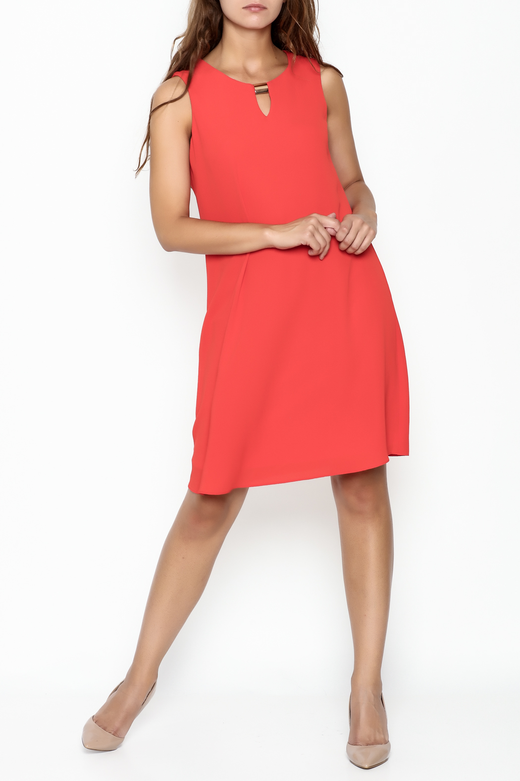 Frank Lyman Coral Shift Dress - Main Image