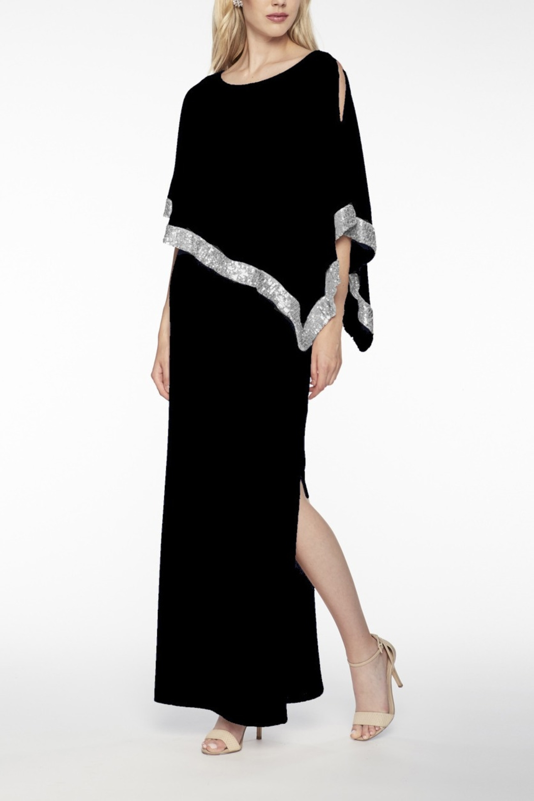 Frank Lyman Asymmetrical Gown - Front Cropped Image