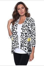 Frank Lyman Black/White Leopard Print Jacket 191469 - Product Mini Image