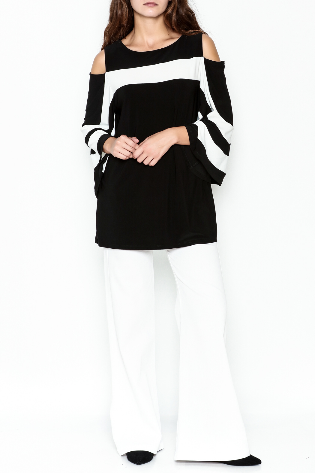 Frank Lyman Butterfly Sleeve Tunic - Side Cropped Image