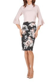 Frank Lyman Floral Stretch Pencil Skirt - Product Mini Image