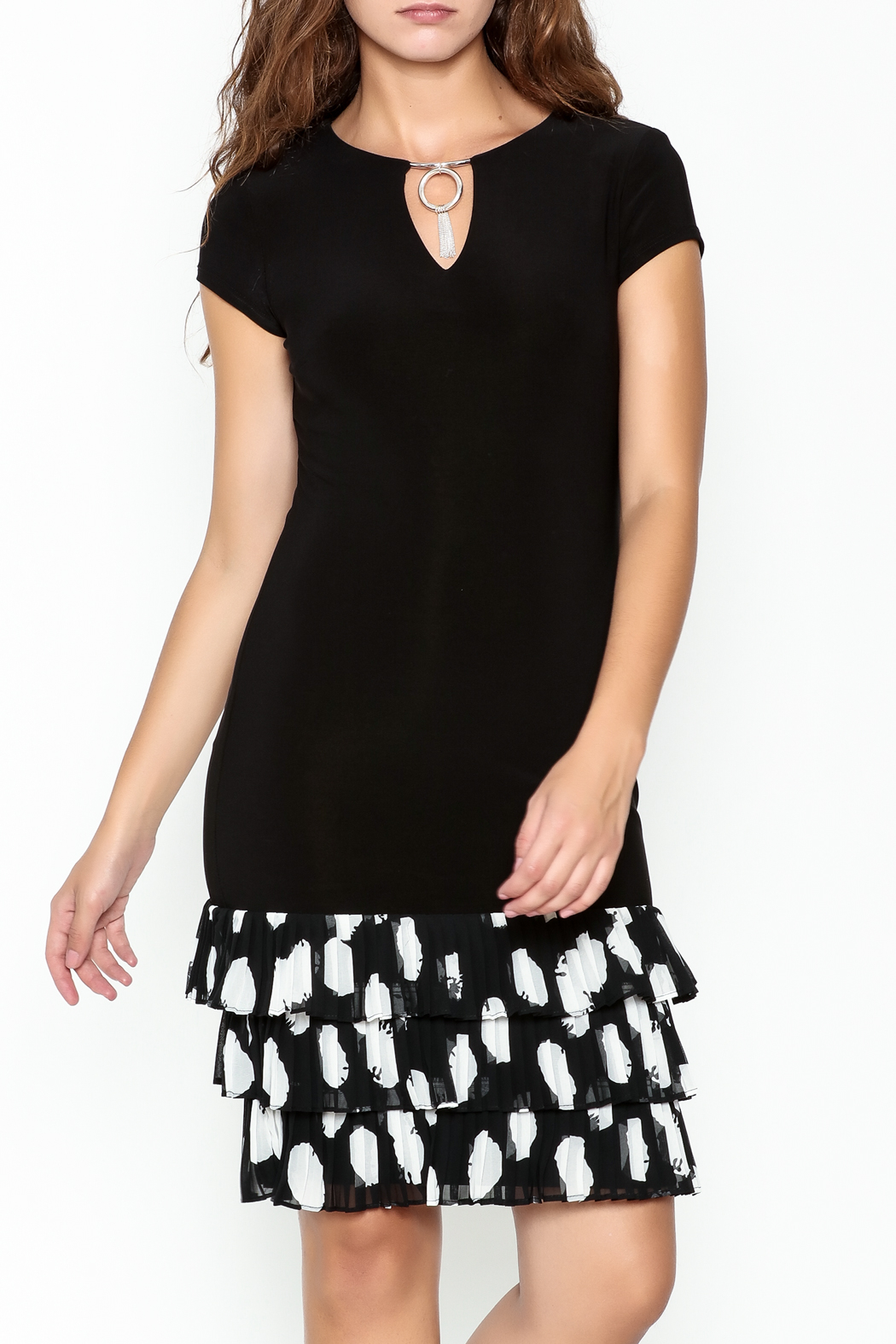 Frank Lyman Ruffle Hem Dress - Main Image