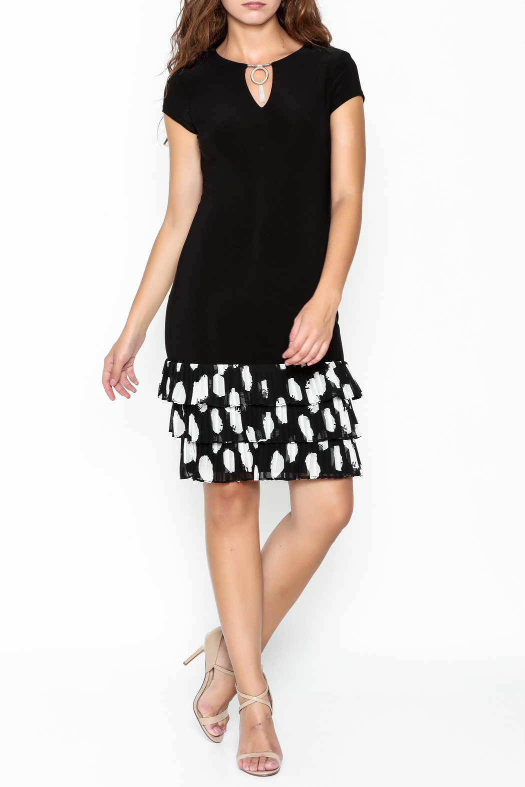 Frank Lyman Ruffle Hem Dress - Side Cropped Image