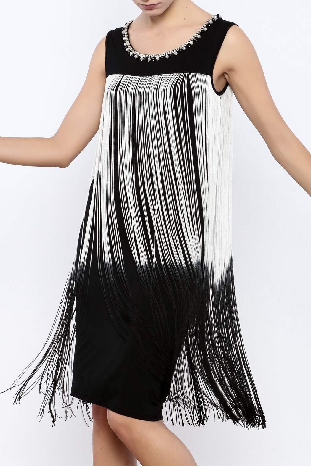Frank Lyman Ombre Fringe Dress From Canada By Didi S Boutique Shoptiques