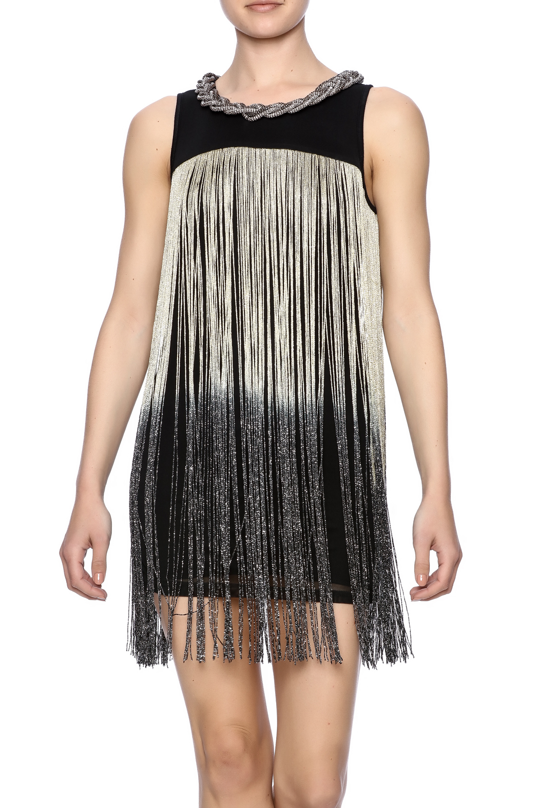 Frank Lyman Ombre Fringe Tunic - Front Cropped Image