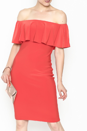 Frank Lyman Off the Shoulder Ruffle Dress - Front cropped