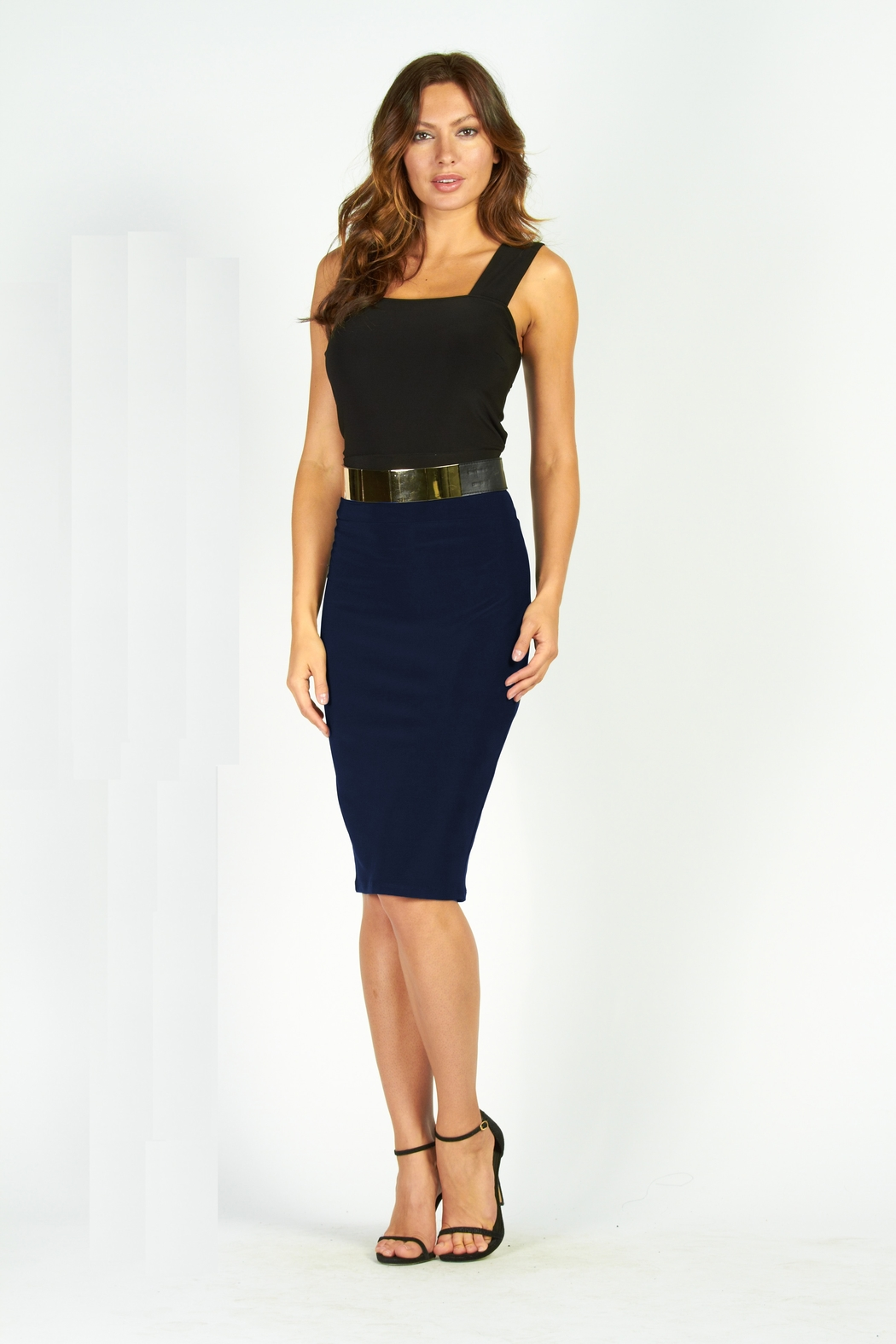 Frank Lyman Stretch Pencil Skirt 27 - Front Cropped Image