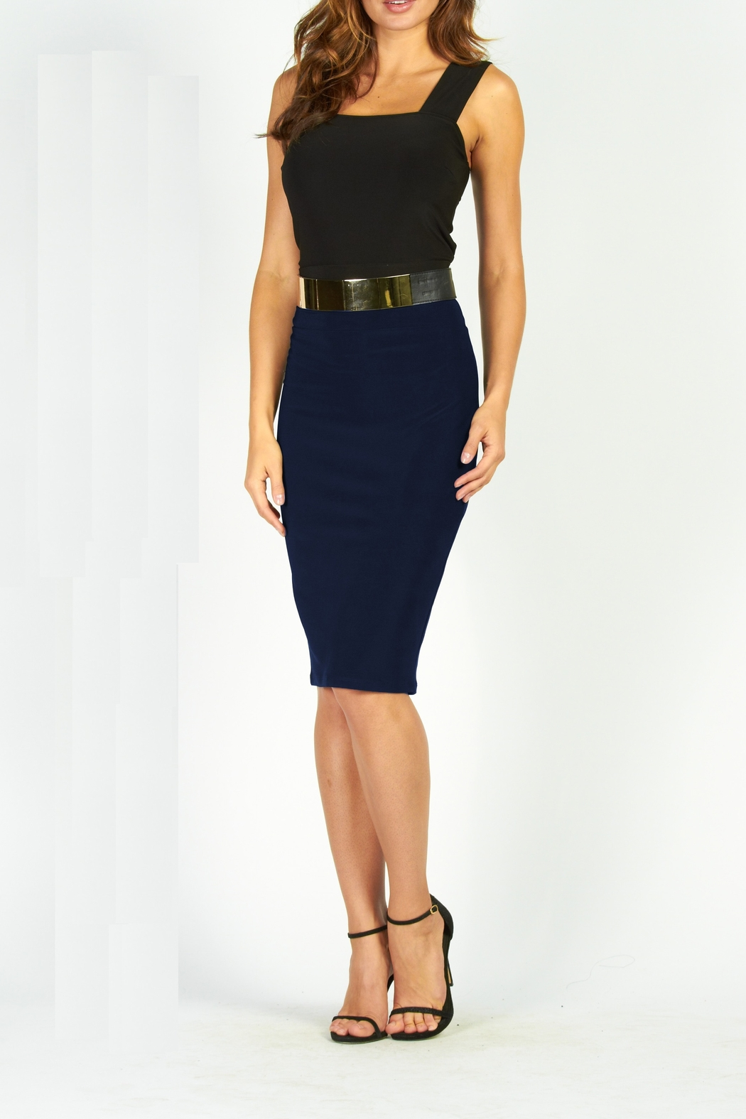 Frank Lyman Stretch Pencil Skirt - Front Cropped Image