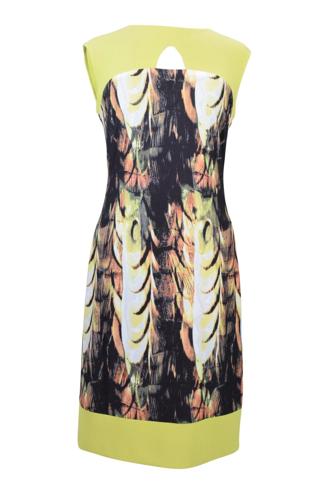 Frank Lyman Abstract Citrus Dress - Front Cropped Image