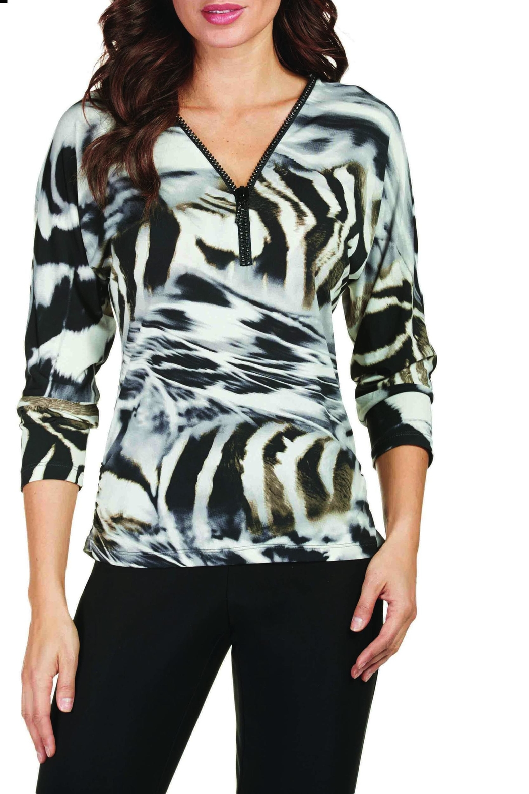 Frank Lyman Animal Print Top - Main Image