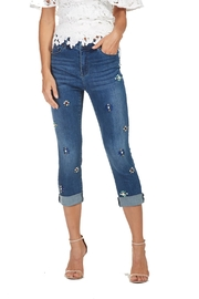 Frank Lyman Beaded Denim Capris - Product Mini Image