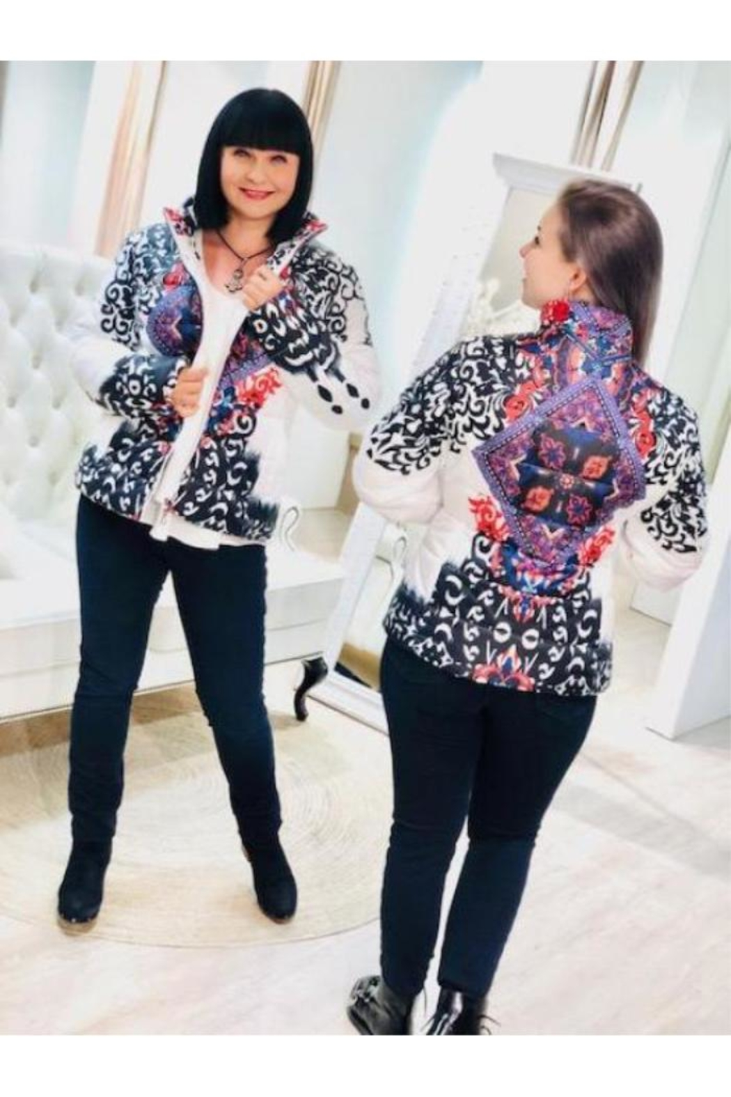 Frank Lyman Colourful Printed Bomber - Front Full Image