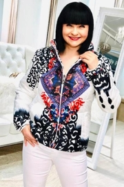 Frank Lyman Colourful Printed Bomber - Front cropped