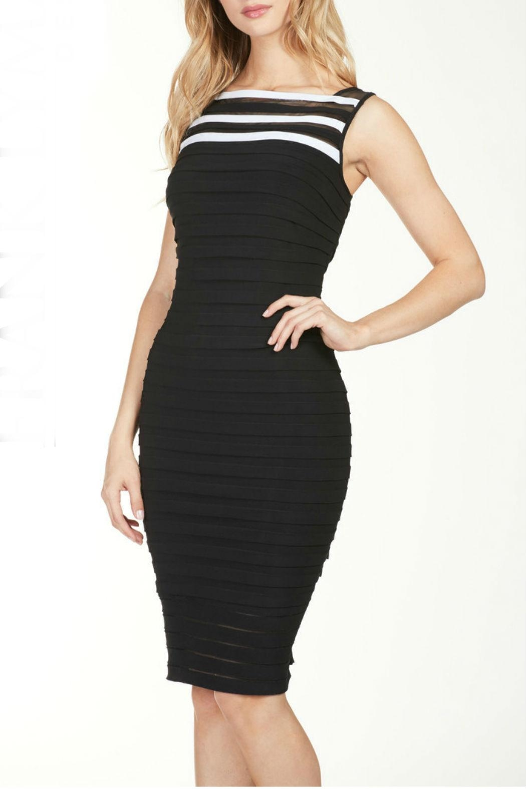 Frank Lyman Black/white Cocktail Dress - Front Cropped Image