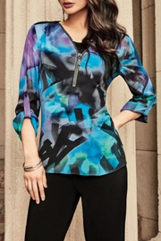Frank Lyman Blue Multicolored Top - Product Mini Image