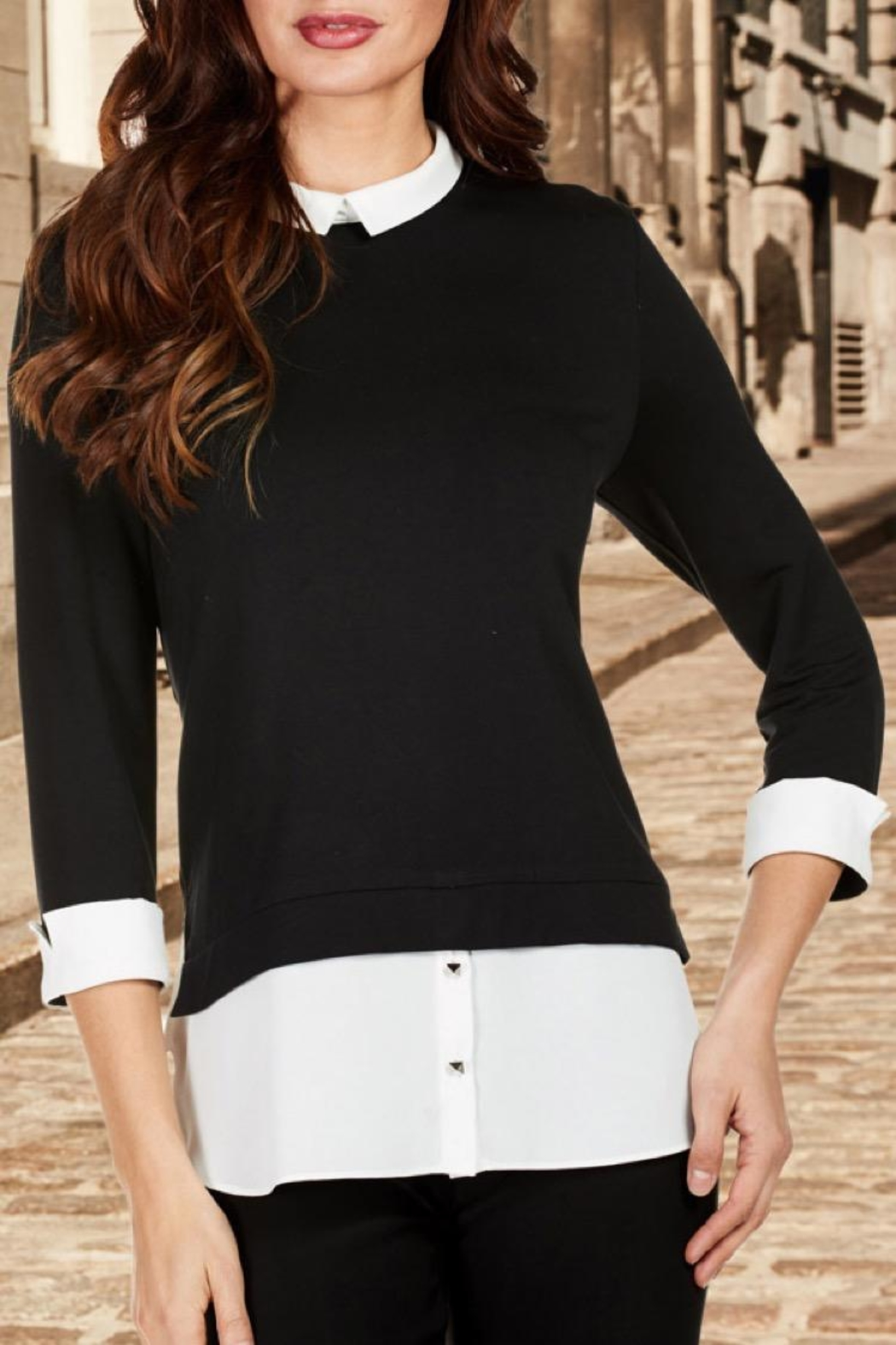 Frank Lyman Collared Blouse - Main Image
