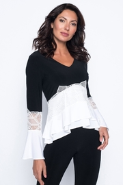 Frank Lyman Ruffles & Lace Top - Front cropped