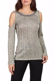 Frank Lyman Embellished Cold Shoulder Top - Product Mini Image