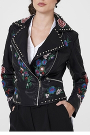 Frank Lyman Embroidered Moto Jacket - Front cropped