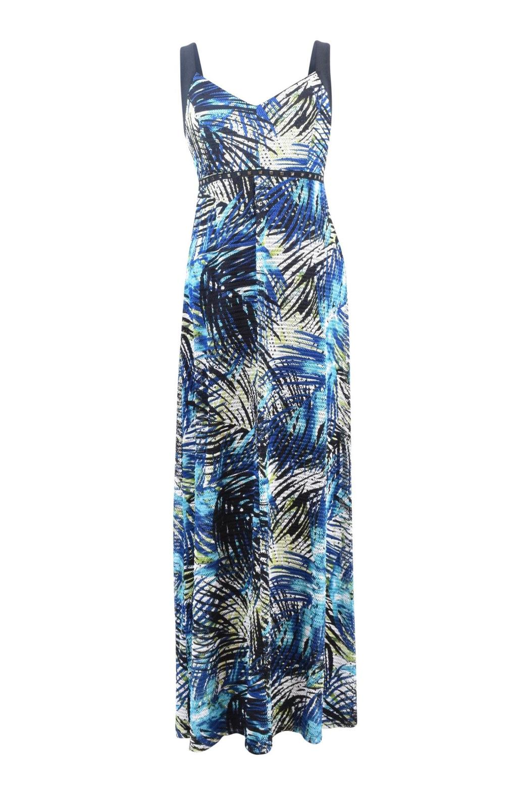 Frank Lyman Fern Print Maxi Dress - Front Cropped Image
