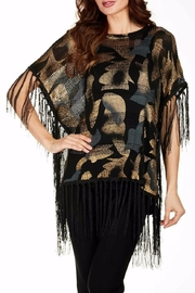 Frank Lyman Fringed Poncho Top - Product Mini Image