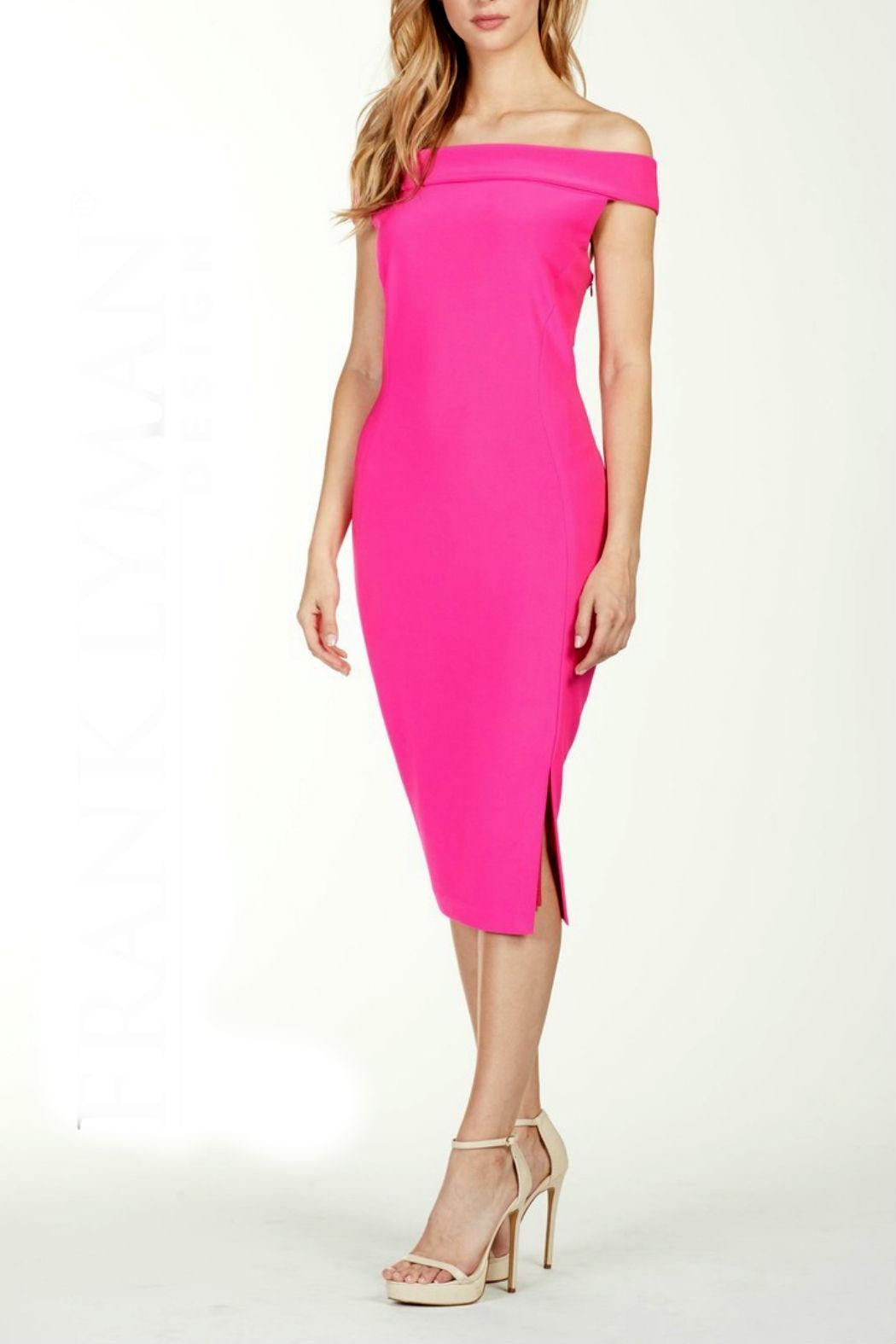 Frank Lyman Fuchsia Off-Shoulder Dress - Front Cropped Image
