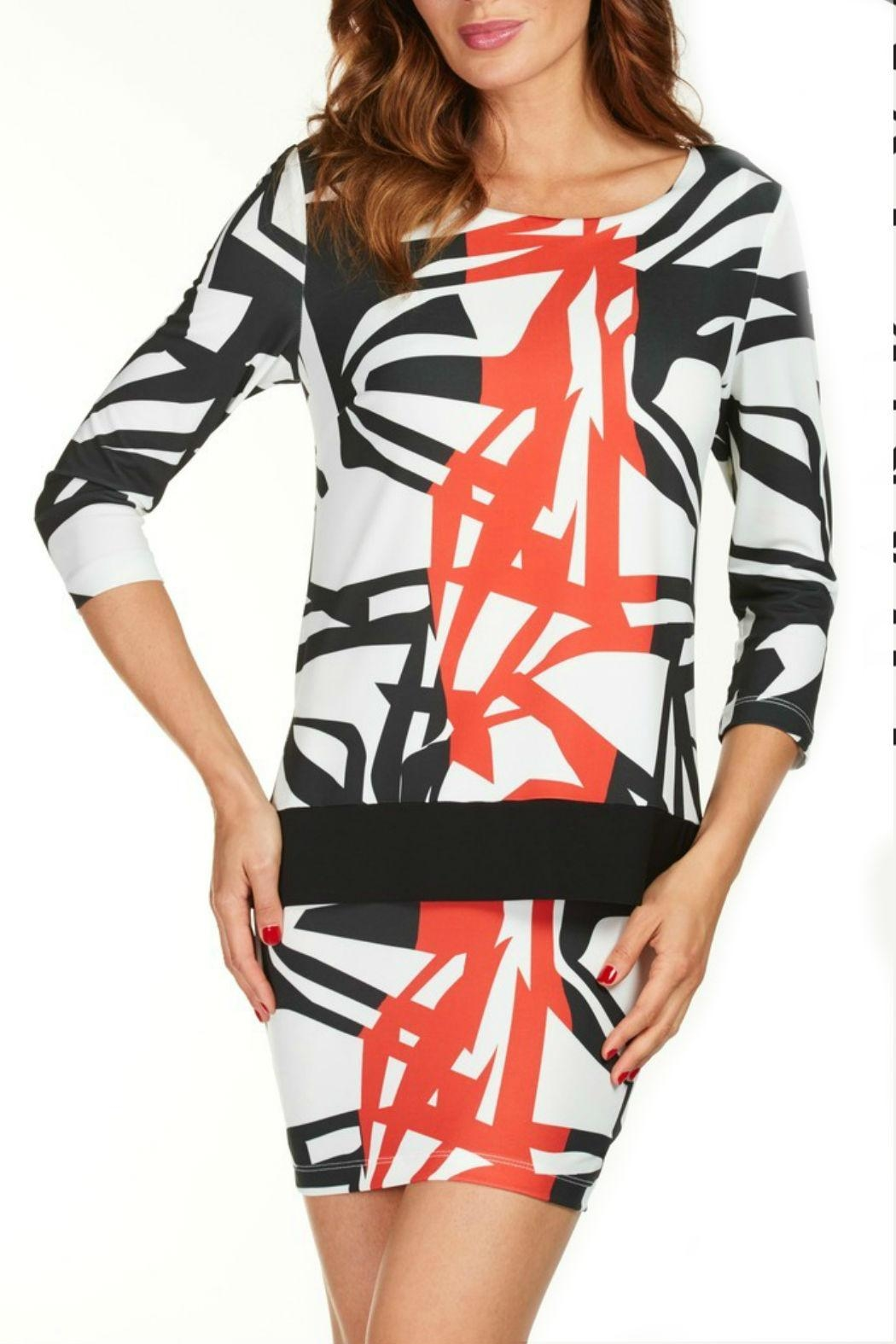 Frank Lyman Geometric Bodycon Dress - Front Cropped Image