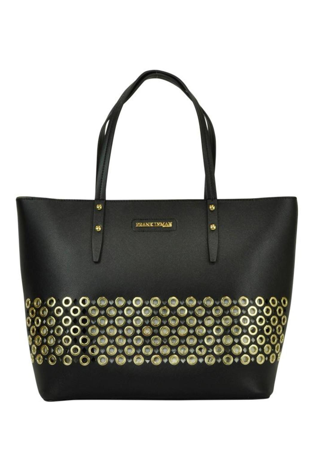 Frank Lyman Gold Circle Tote - Front Cropped Image