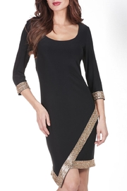 Frank Lyman Gold Embellished Dress - Product Mini Image