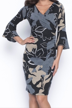 Frank Lyman Knit Wrap Dress - Alternate List Image