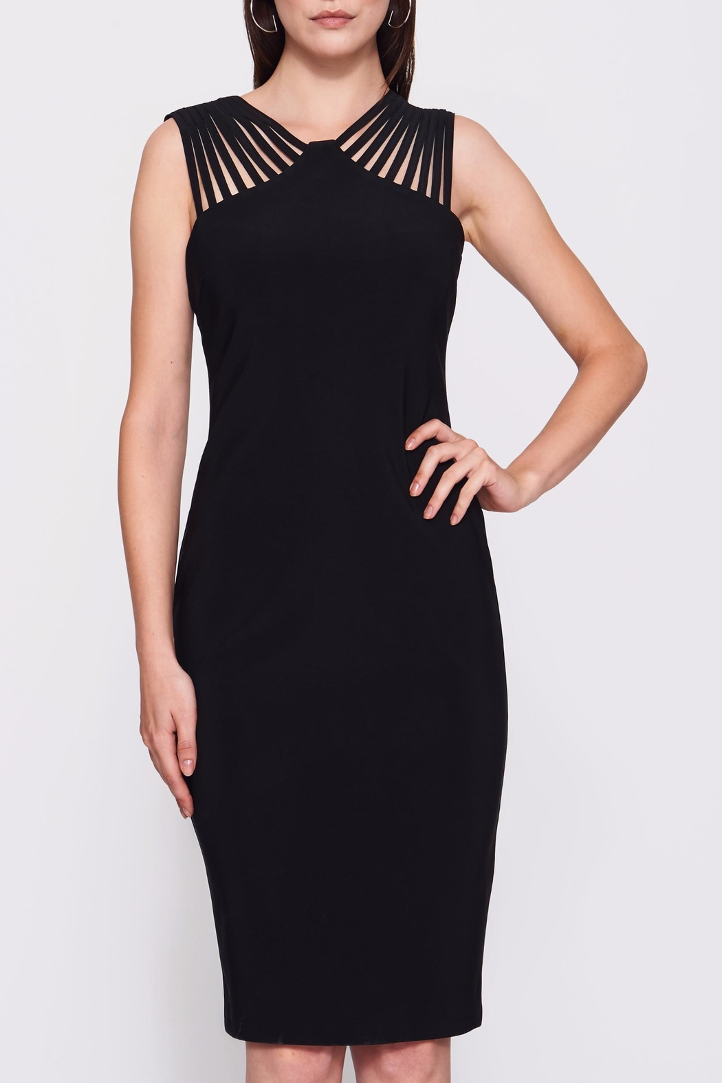 Frank Lyman Lace Black Dress - Front Cropped Image