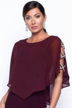 Frank Lyman Merlot Evening Gown - Alternate List Image