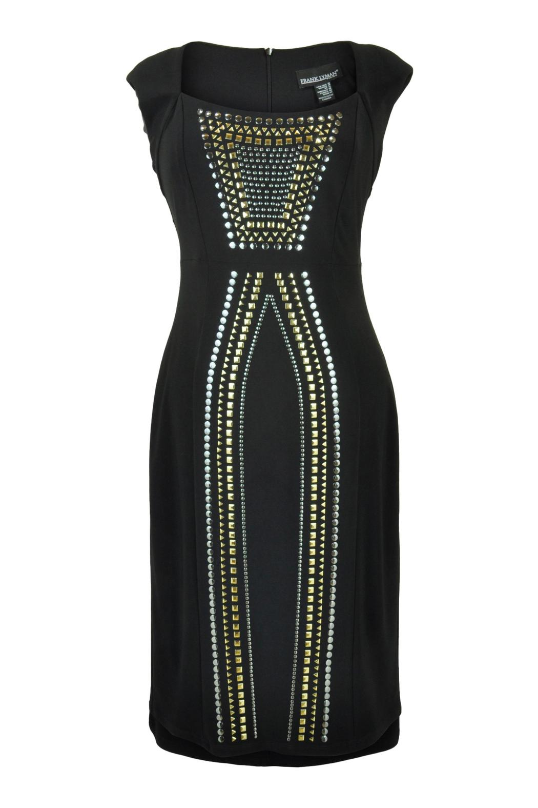 Frank Lyman Metallic Studded Dress - Main Image