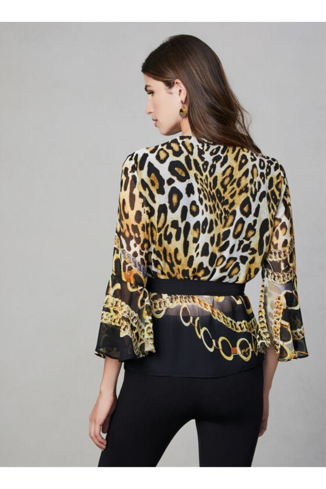 Frank Lyman Mixed Print Blouse - Back Cropped Image