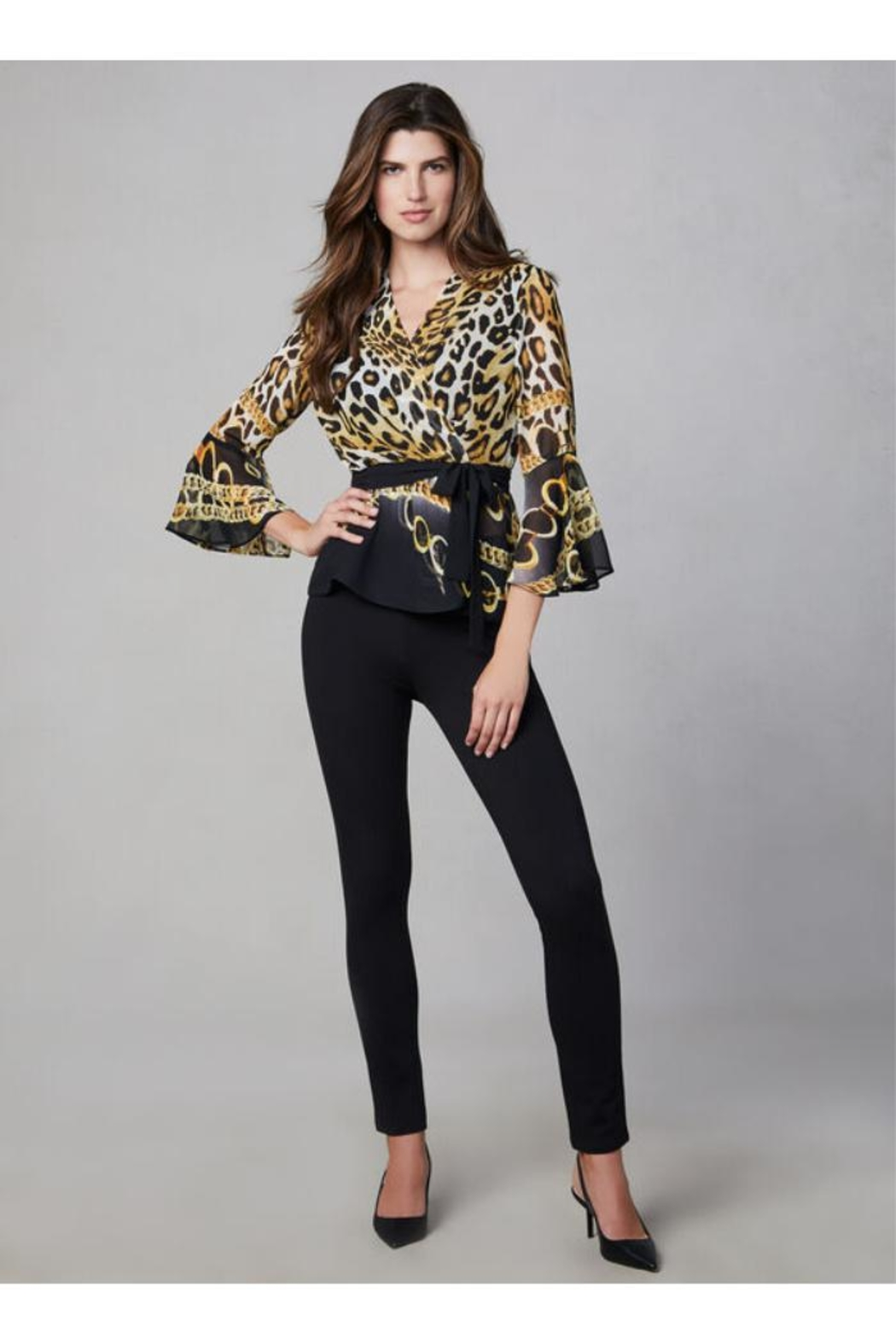 Frank Lyman Mixed Print Blouse - Side Cropped Image