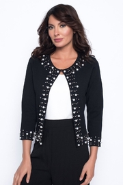Frank Lyman Pearl Trim Cardigan - Product Mini Image