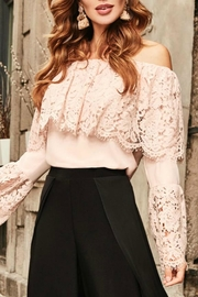 Frank Lyman Pink Peasant Top - Front cropped