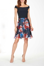 Frank Lyman Pleated Print Dress - Front cropped