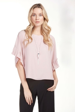 Shoptiques Product: Pleated Sleeve Top