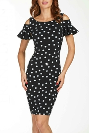 Frank Lyman Polka-Dot Cold-Shoulder Dress - Product Mini Image