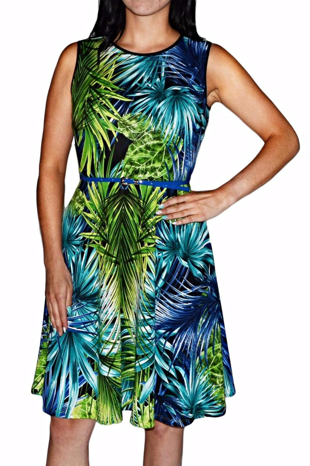 Frank Lyman Royal Lime Dress - Main Image