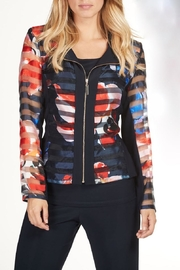 Frank Lyman Sheer Zip Jacket - Product Mini Image