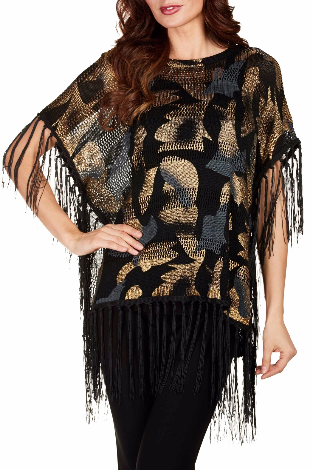 Frank Lyman Shimmery Poncho Top - Main Image
