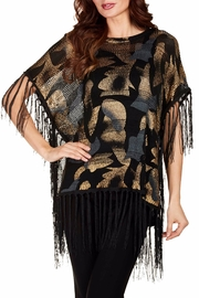 Frank Lyman Shimmery Poncho Top - Front cropped